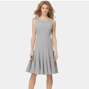 Calvin Klein Taupe Pleated Short Sleeve Dress
